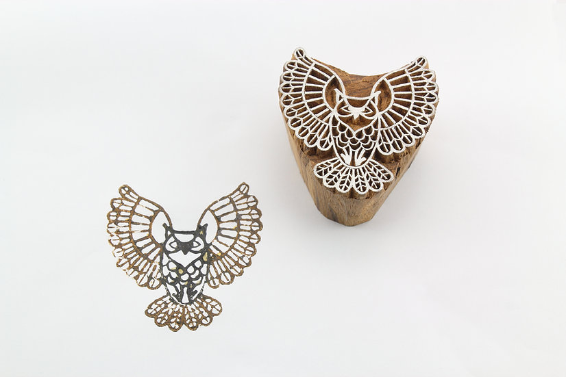 Owl Wooden Stamp
