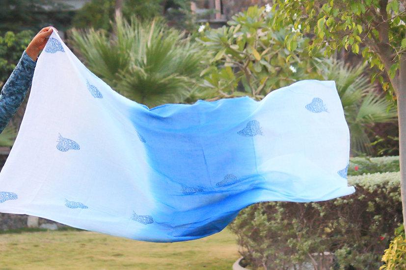 Blue Tiger Migration Scarf