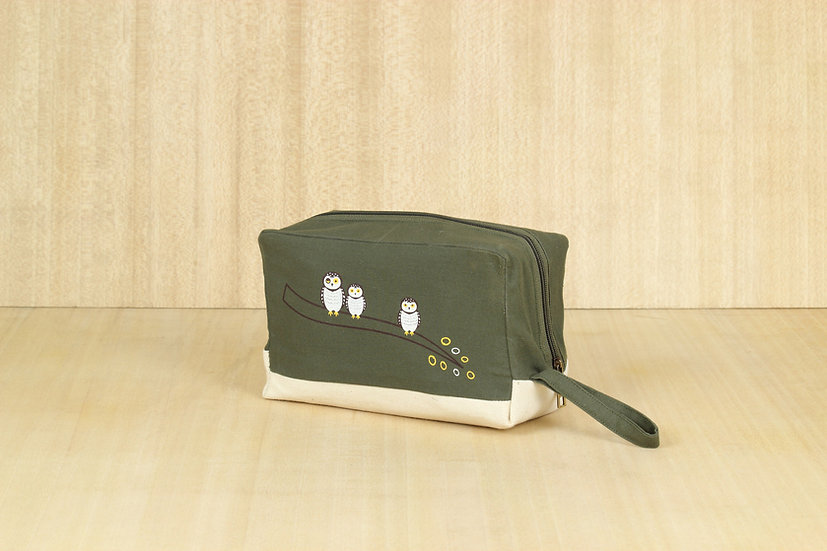 Spotted Owlet Box Pouch