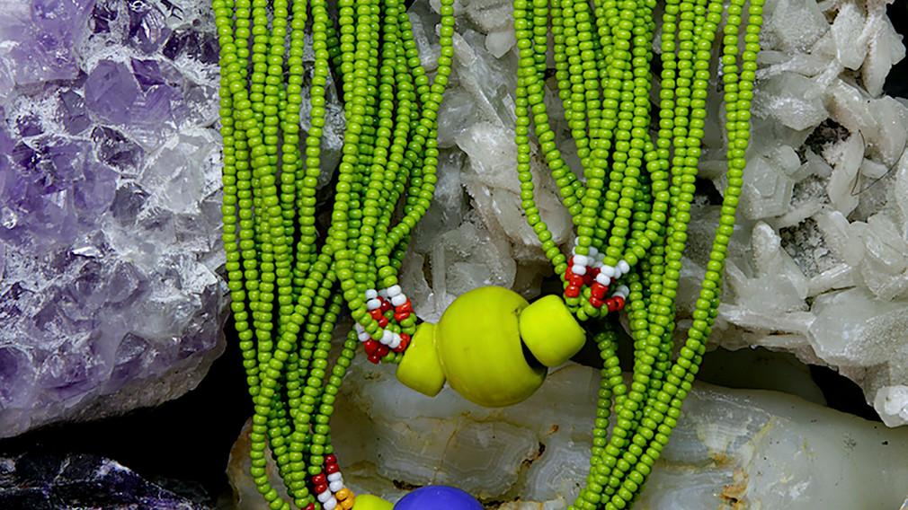 Baiga Moonga Dana Necklace Olive Green