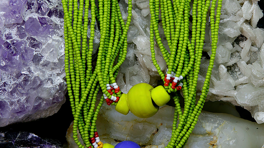 Baiga Moonga Dana Necklace Olive Green