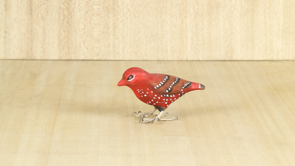 Hand Painted Red Avadavat