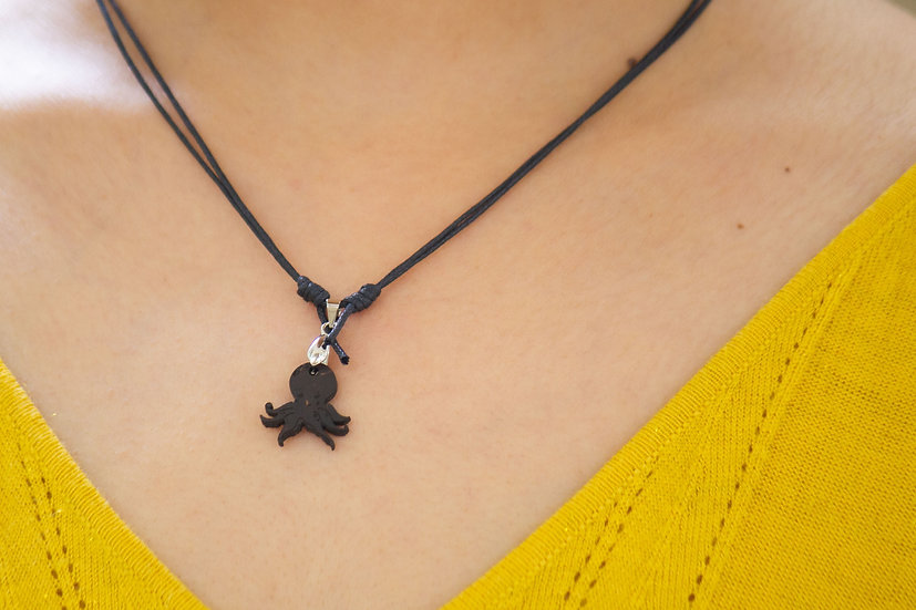 Octopus Coconut Shell Pendant by EarthCare Designs Foundation
