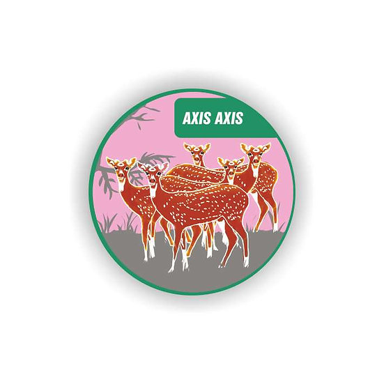 'Axis Axis' Spotted Deer Fridge Magnet