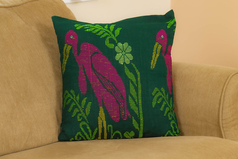 Cushion Cover - Greater Adjutant Stork - Hargila Army