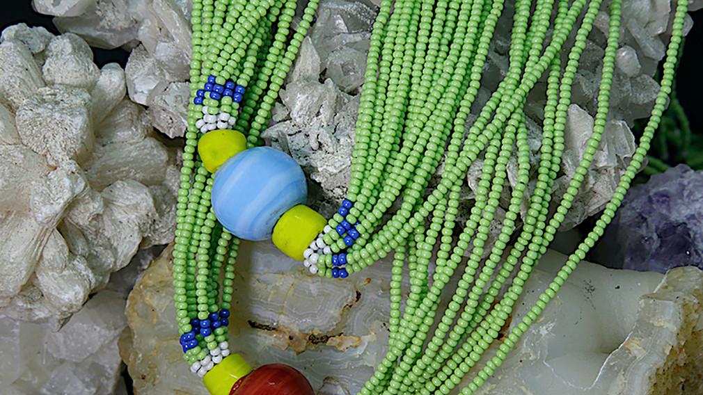 Baiga Moonga Dana Necklace Light Green