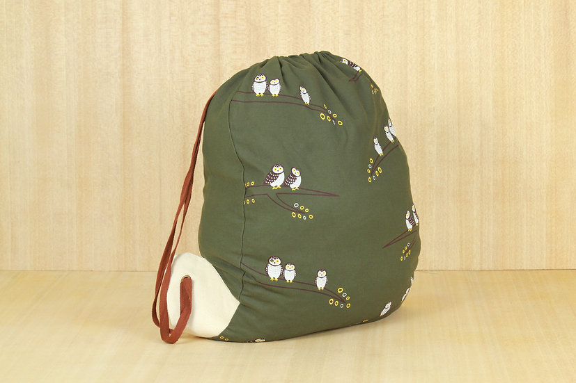 Spotted Owlet Drawstring Sack