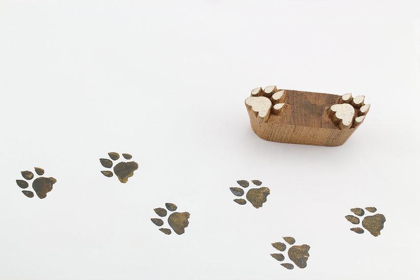 Tiger Pug Marks Wooden Stamp
