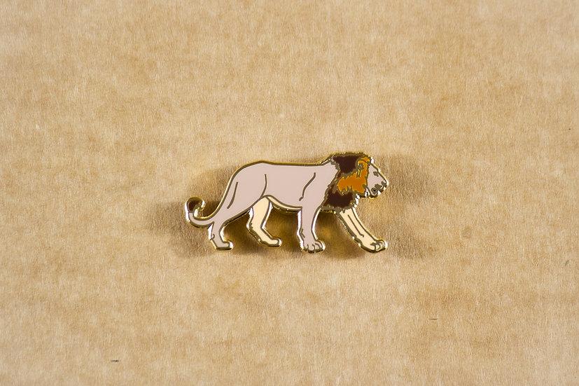Asiatic Lion Lapel Pin