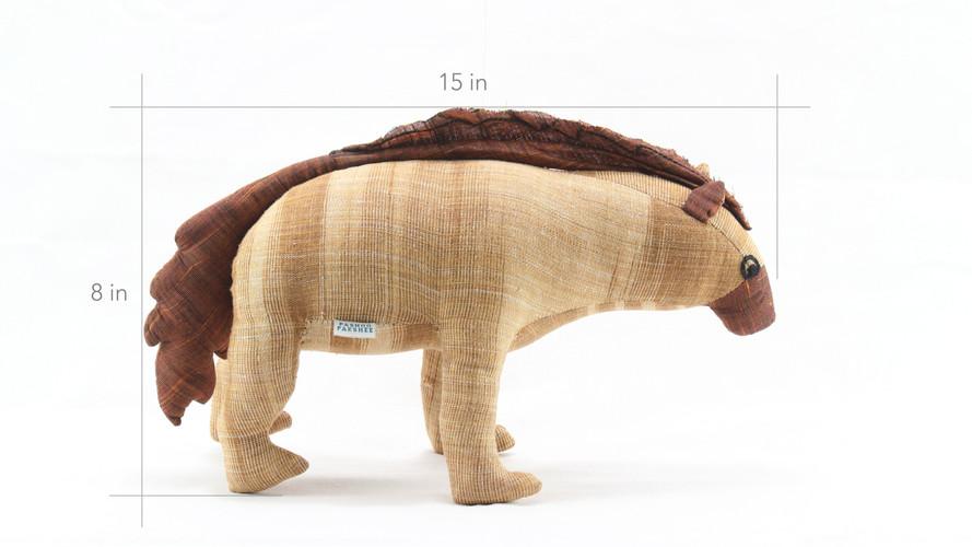 Striped Hyena Soft Toy Dimensions