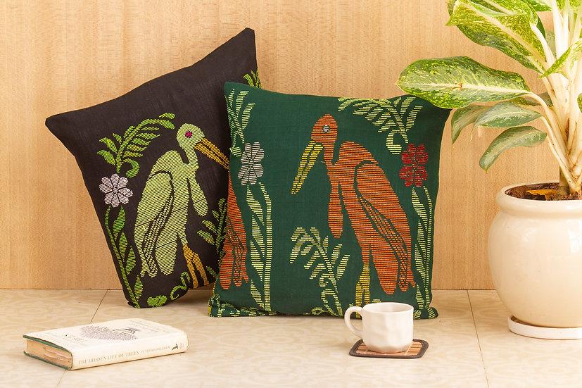 BLINGY Cushion Cover - Greater Adjutant Stork- Hargila Army
