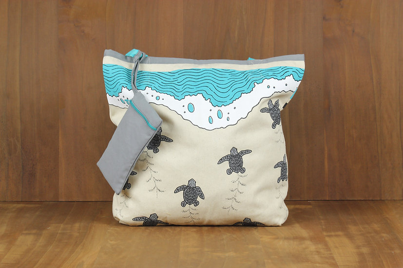 Turtle Nesting Tote Bag