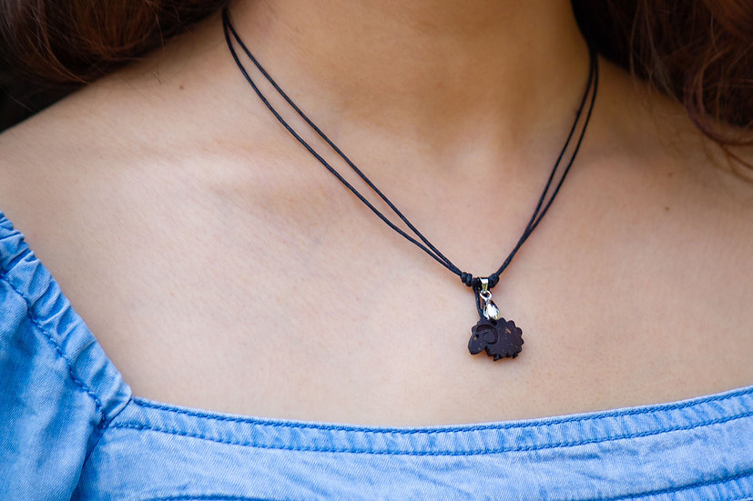 Sheep Coconut Shell Pendant by EarthCare Designs Foundation