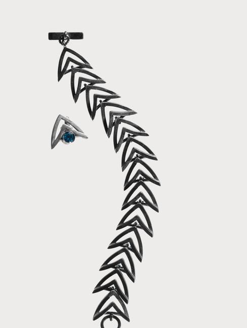 Armband Geoxideerd Zilver