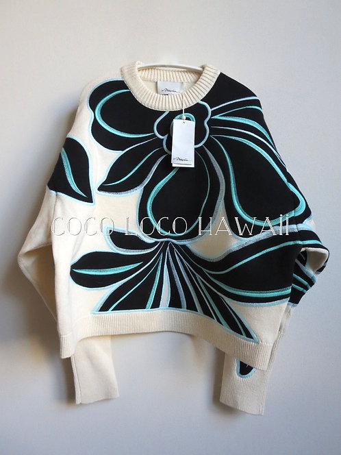3.1 Phillip Lim フィリップリム ワイルドフラワー パッチワーク エンブロイダリー セーター