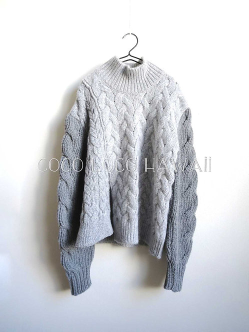 STELLA McCARTNEY ステラマッカートニー 2016 Fall/Winter コレクション マルチケーブルニット タートルネック セーター