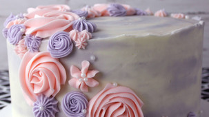 pink purple piped flower cake profile fo