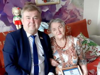 Труженица тыла отметила 86 день рождения