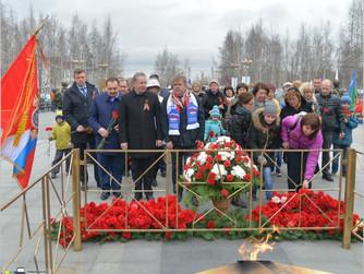 Нижневартовск отметил 72-ую годовщину Великой Победы.