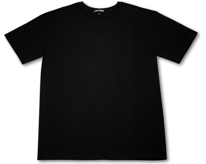 COMMERZ MINIMALISTIC BLACK T-SHIRT