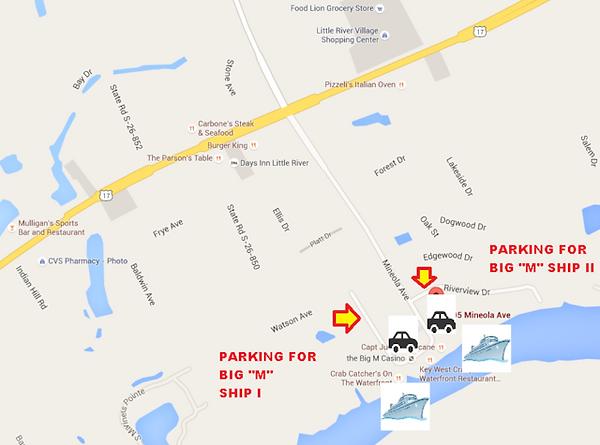 "Parking - Map - The Big ""M"" Casino"
