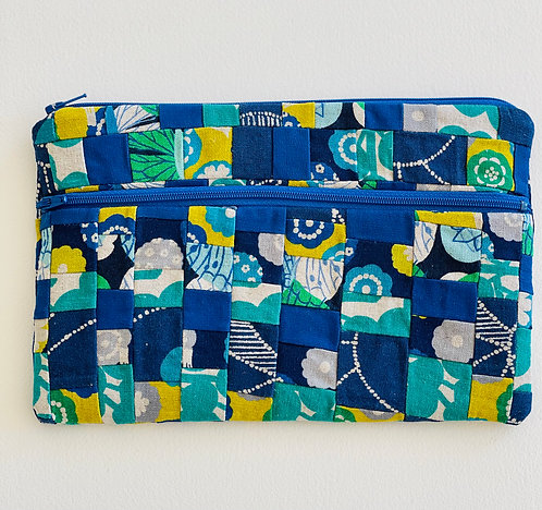 Large Pieced Zip Pouch 6