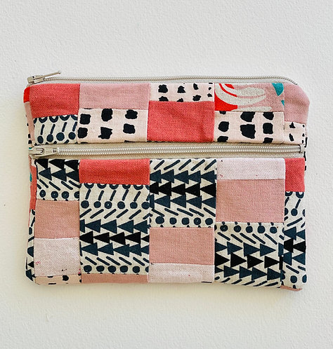 Small Pieced Zip Pouch 4