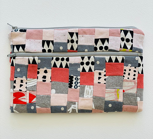 Large Pieced Zip Pouch 7