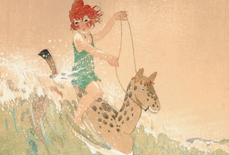 #37 Girl on a Seahorse