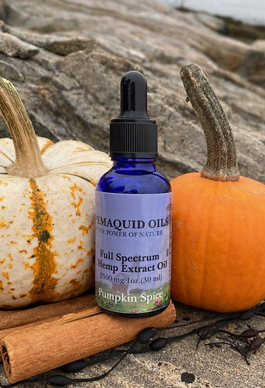 2500mg Pumpkin Spice Full Spectrum Hemp Extract Oil