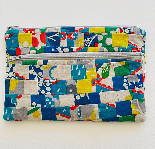 Large Pieced Zip Pouch 10