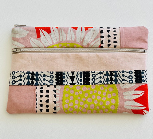 Large Pieced Zip Pouch 8