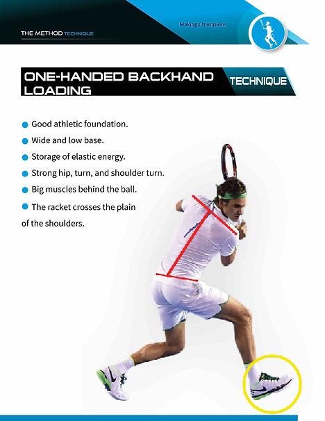 one-handed backhand loading
