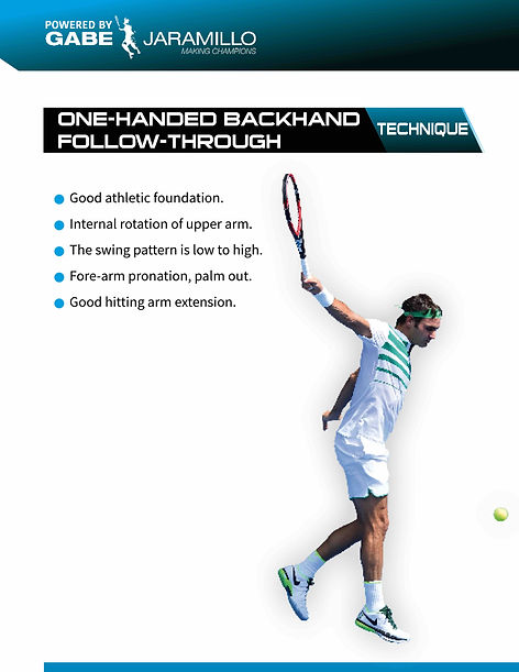 one handed backhand follow through
