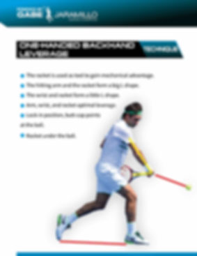 one-handed backhand leverage