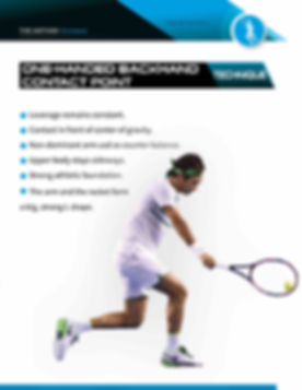 two handed backhand contact point