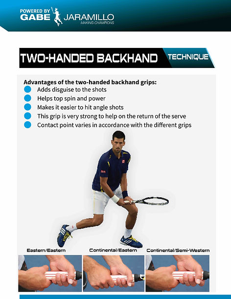 two-handed backhand grips