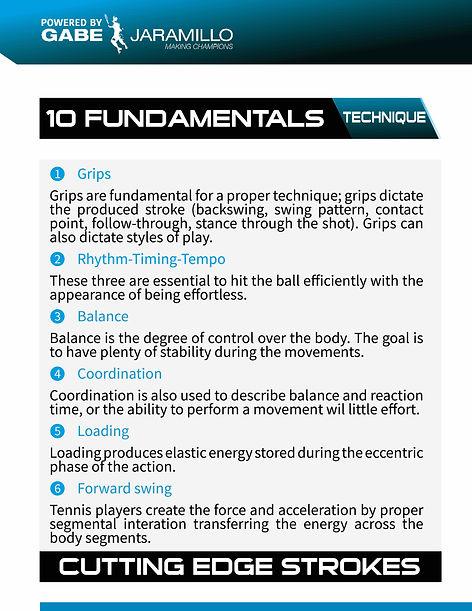 fundaentals, grips, rhytm, timing, balance, coordination, loading, forward swing