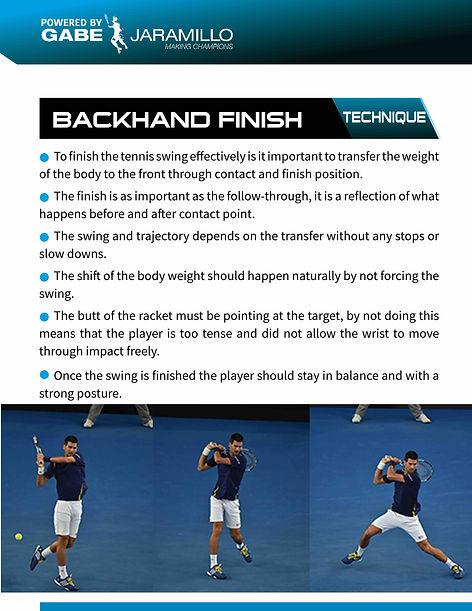 backhand finish