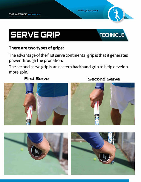 1st and 2nd serve grips