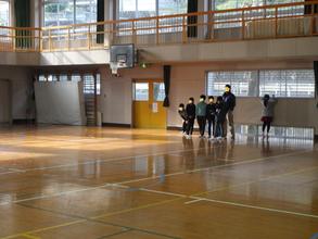 川平小学校で測量イベントを行いました