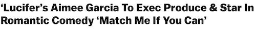 Aimee Garcia Match Me If You Can annoucement healine