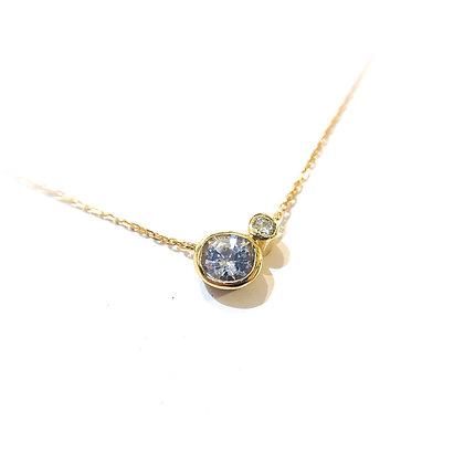 Lilac Sapphire and Diamond Pendant