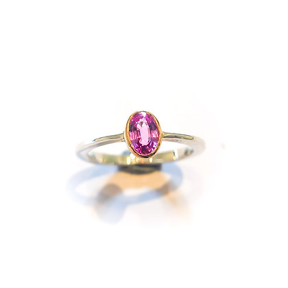 Pink Sapphire Tapered Ring