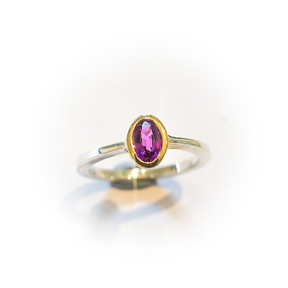 Purple Spinel Tapered Ring