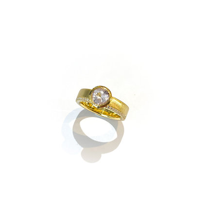 Morganite and Diamonds Signature Ring