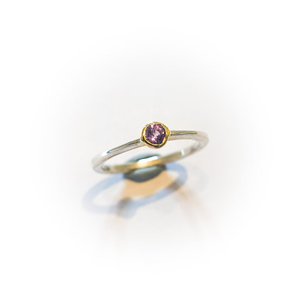 Tiny Sapphire Tapered Ring