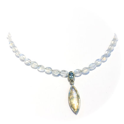Moonstone and Aquamarine Necklace