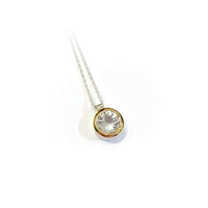 Large White Topaz Pendant