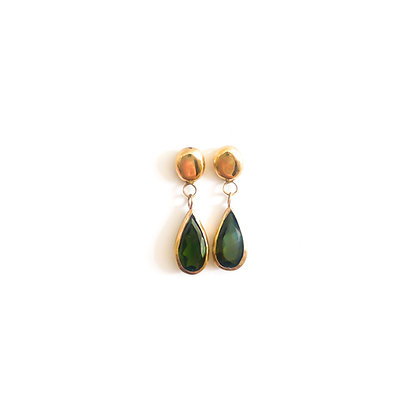 Dark Green Tourmaline Drops